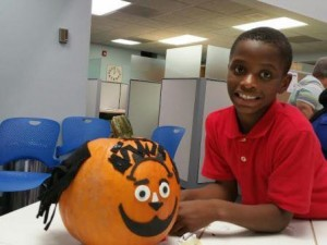 boy and pumpkin 2